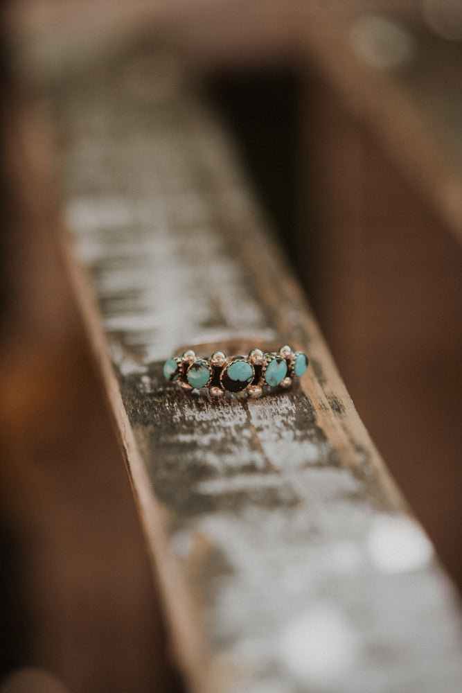Medium Dot Ring | Turquoise & Black