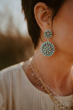 Catalina Earrings | Turquoise Flower