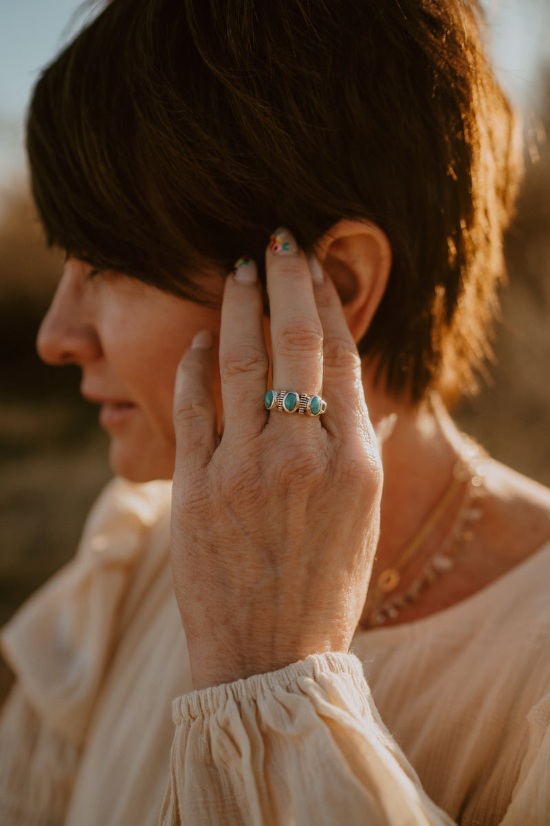 The Gwen | Tri-stone Turquoise