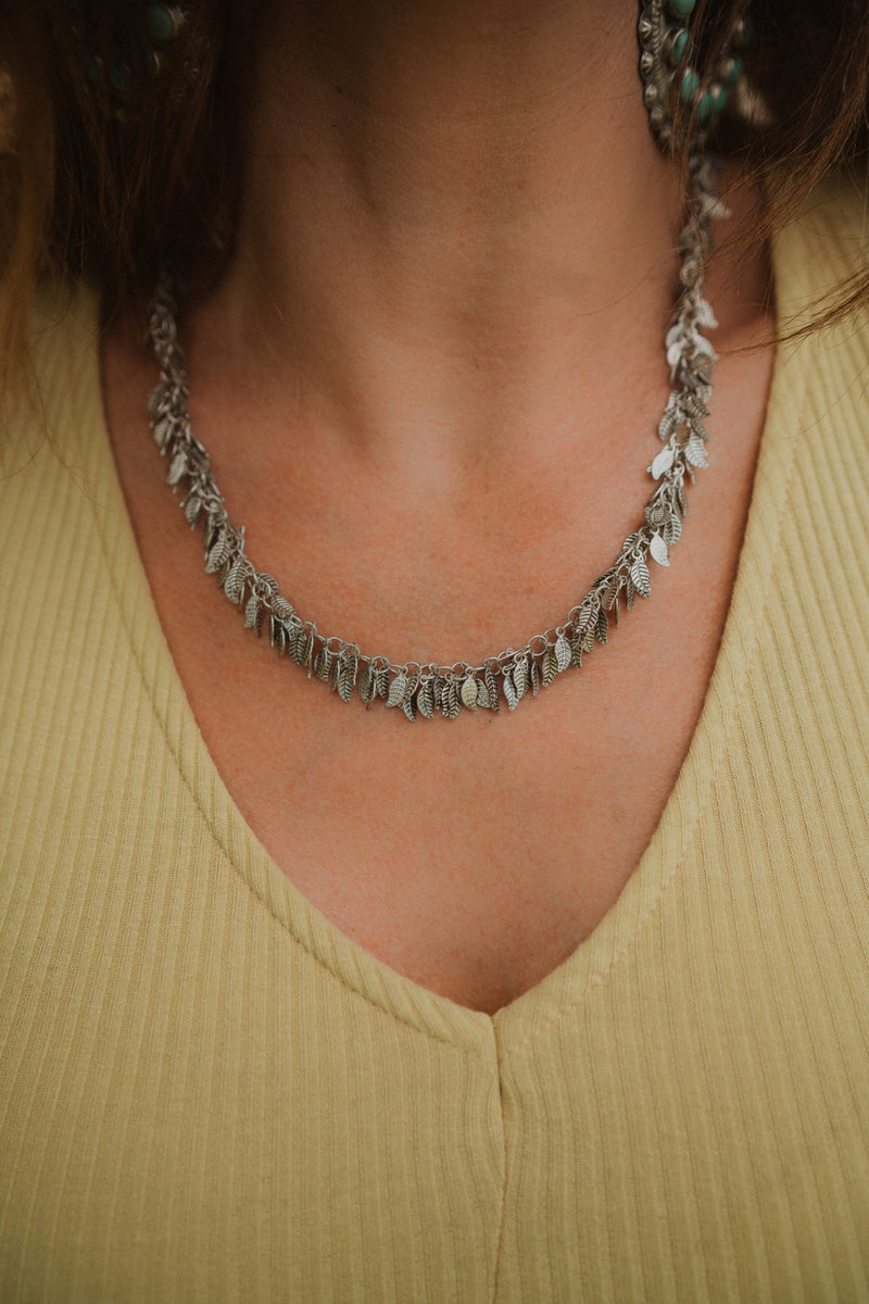 La Pluma | Silver Feather Necklace