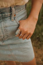 The Addie Ring | Blue and Grey Jasper