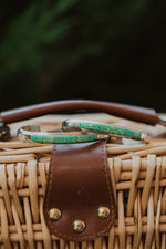 Suki Cuff | Thin | Opal Green