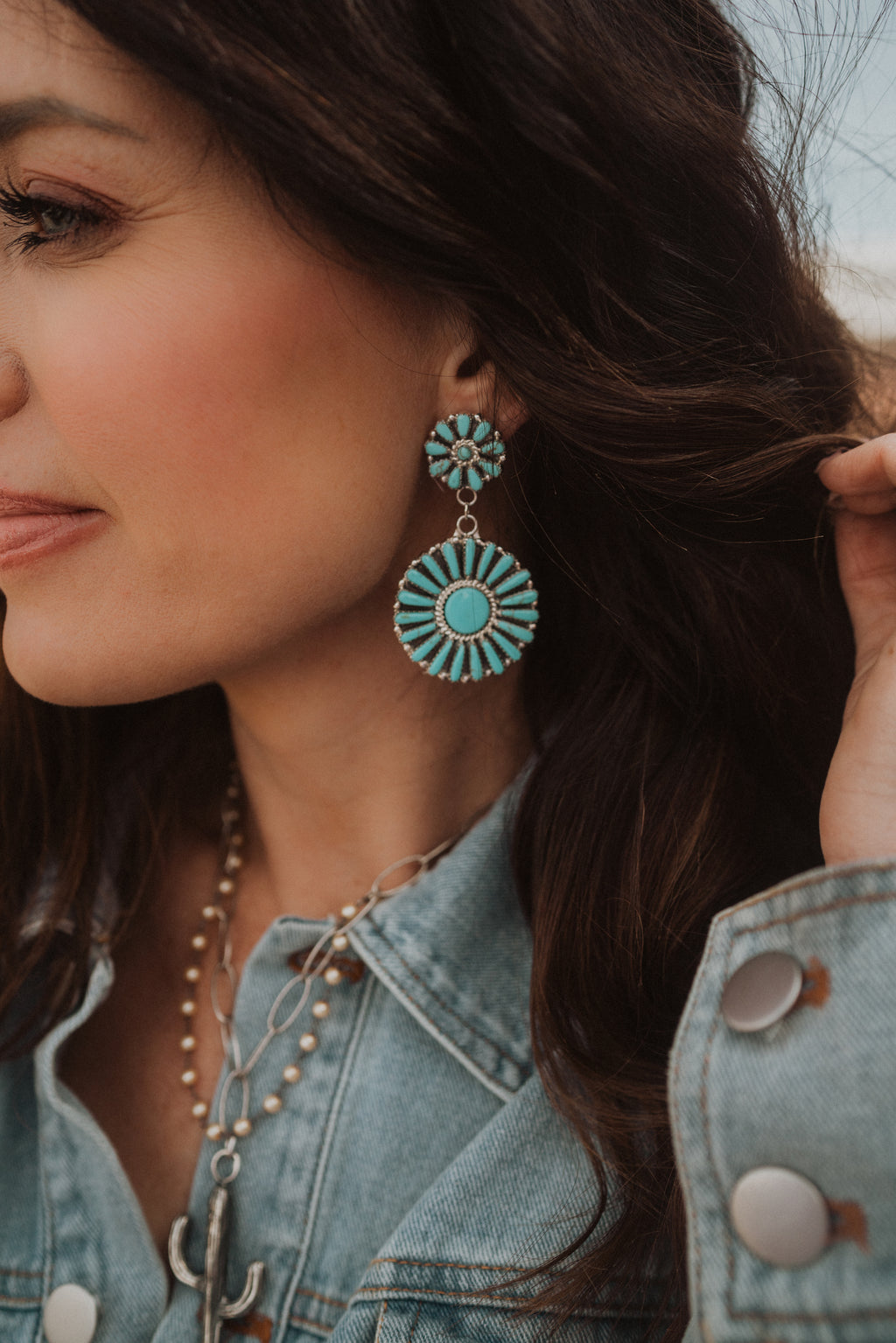 Beatrice Earrings | Turquoise
