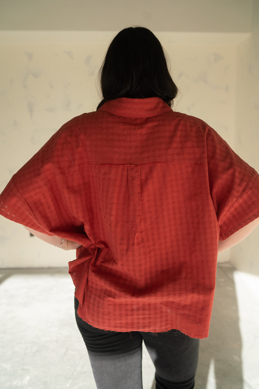 Mini Vertical Shield Ring | Turquoise