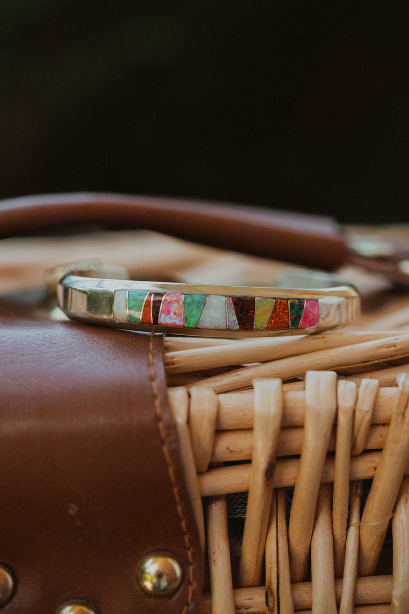 Bryn Cuff | Thick | Multi-Color Opal