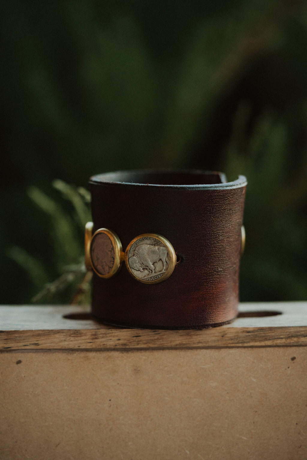 The Roundy | Leather Coin Cuff
