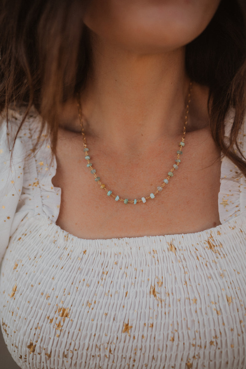 The Lennon Necklace | Peruvian Opal