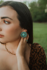 Everleigh Flower Earrings | Turquoise