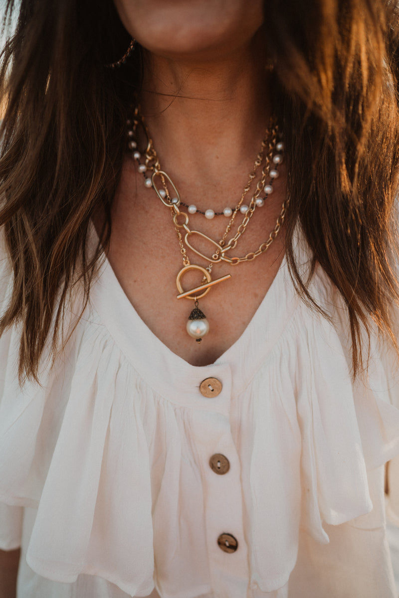 The Viola Necklace | Fresh Water Pearl