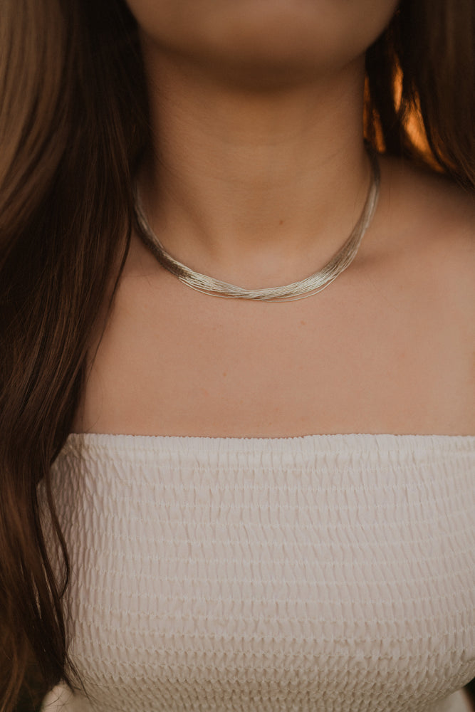 The Andie | Silver Multi Strand