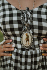 Golden Cowgirl | Vintage Bubble Pendant
