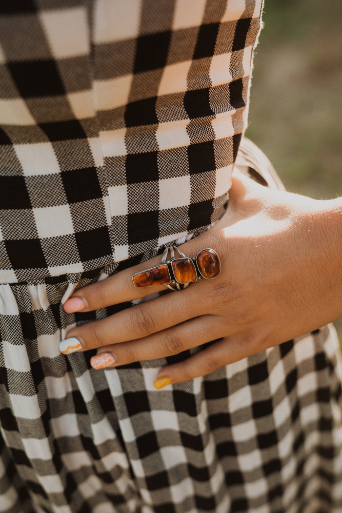 Mitchie Ring Spiny Oyster | Purple & Orange