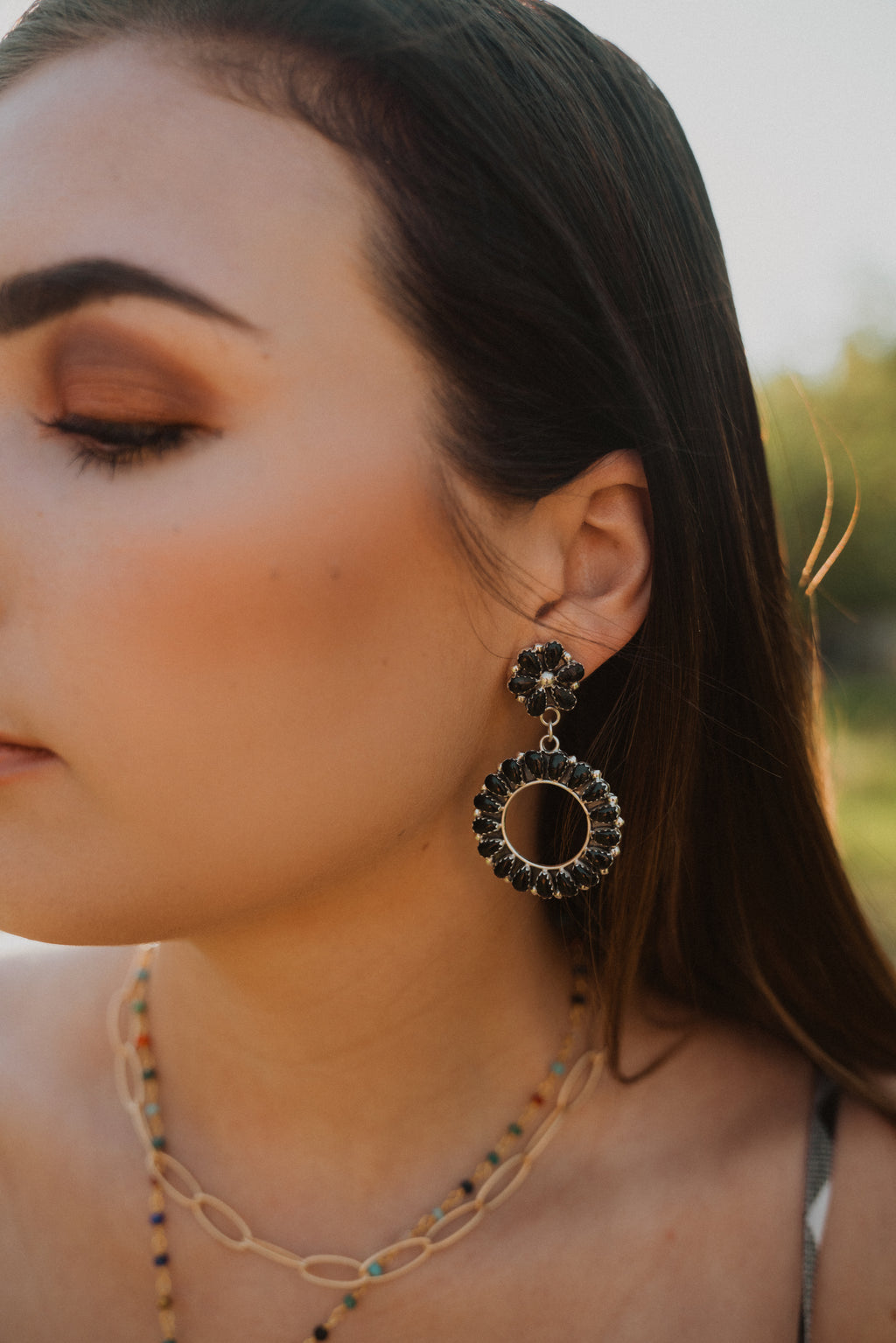 Ruthy Earrings | Flower Zuni Dangle