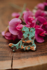 Copper Splash Turquoise Freeform Ring