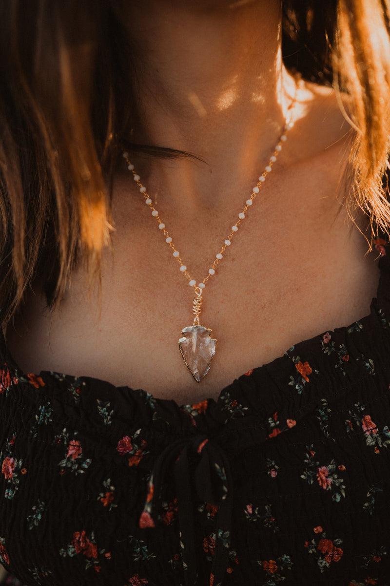 The Adeline Necklace | Clear Quartz