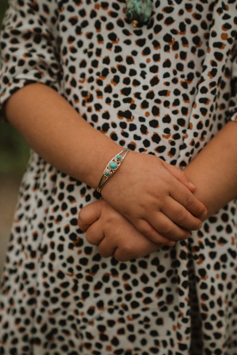 3 Stone Baby Cuff | Turquoise