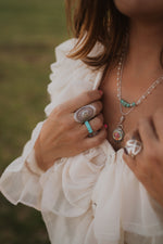 The Evie | White Opal Fan Ring