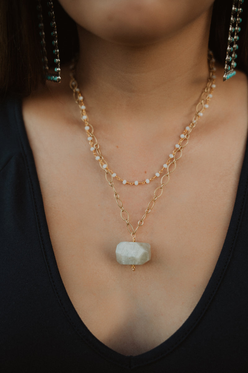 The Laurel | Ember Stone | White Moonstone
