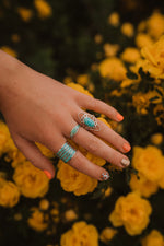 The Valentina | Turquoise Freeform Diamond Ring