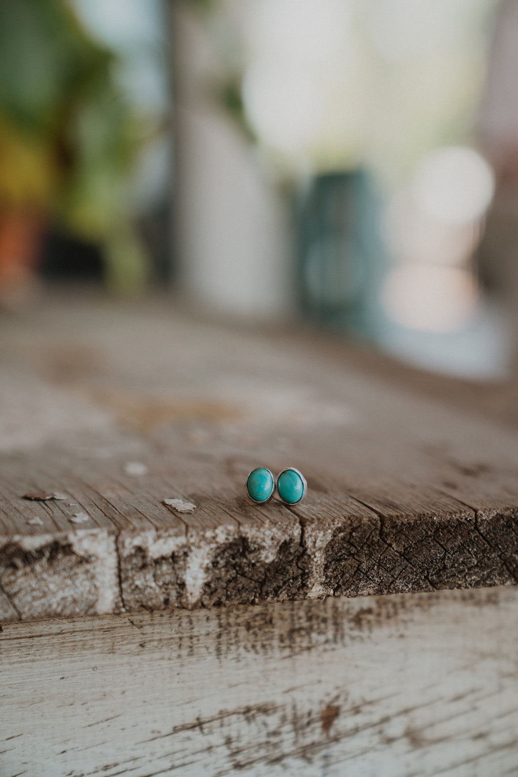The Kitty | Oval Turquoise Stud