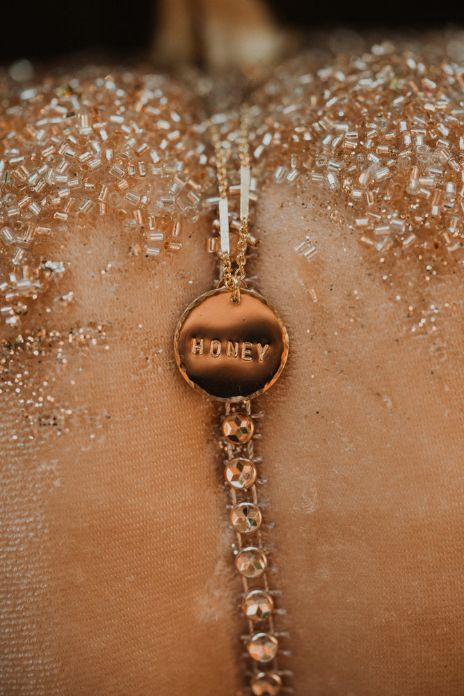 Honey | Gold Coin Necklace