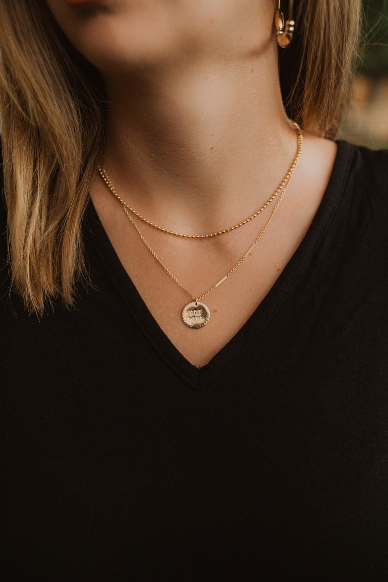 Hot Mama | Gold Coin Necklace