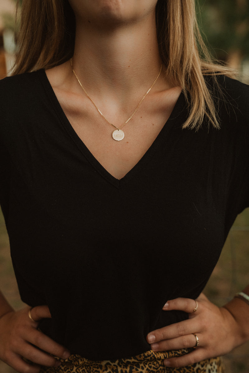Sister | Gold Coin Necklace