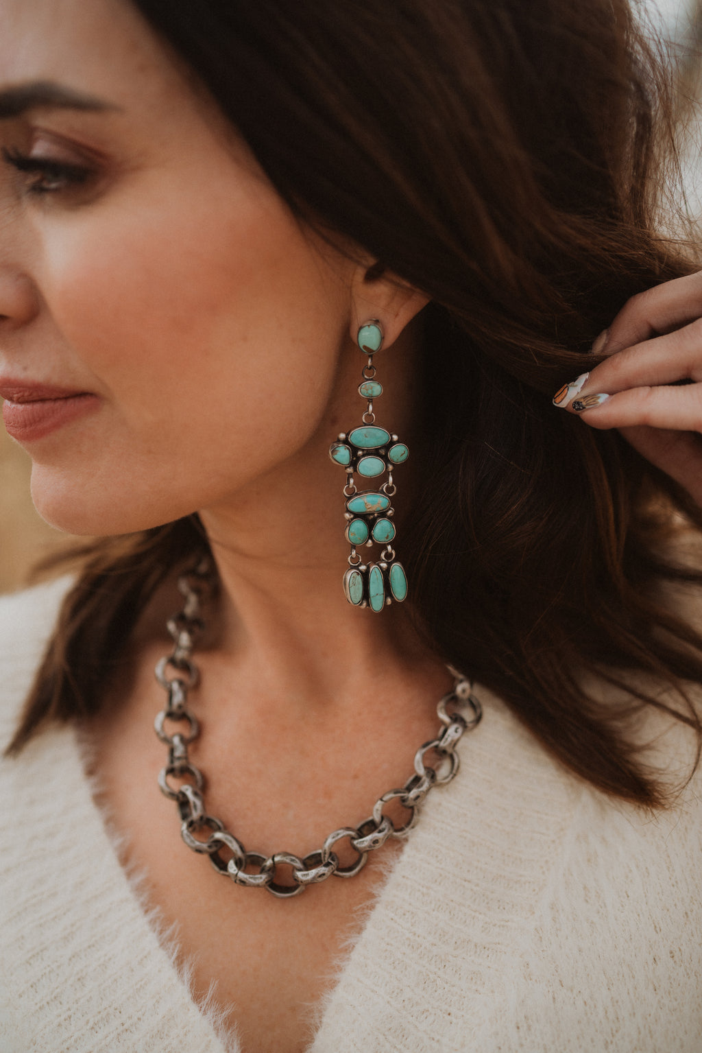 Dana Earrings | Turquoise Chandelier No. 01