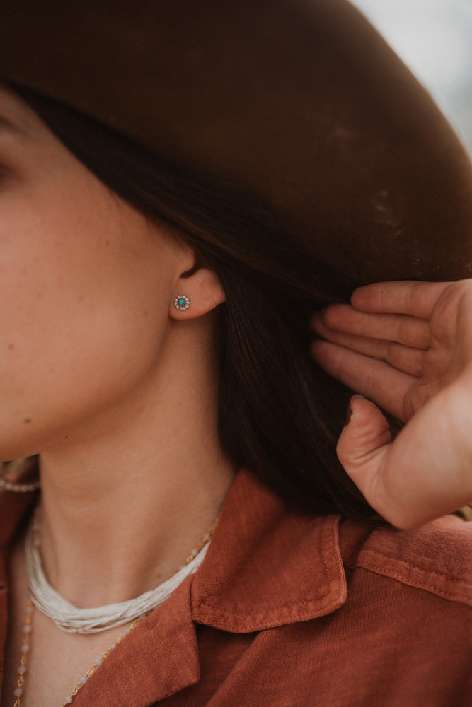 The Starli Studs | Small Turquoise Dot