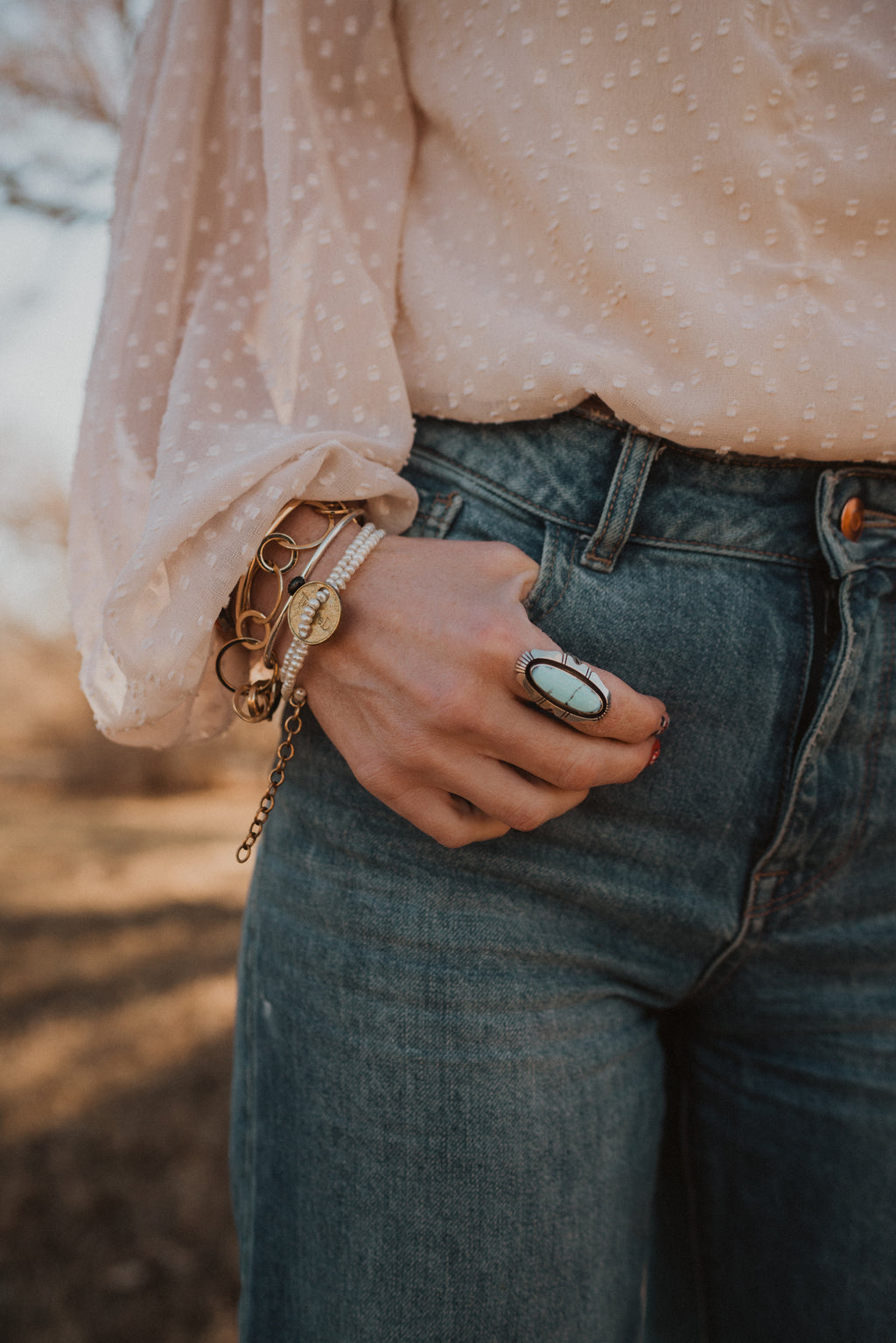 The Dandy Ring | Golden Hill Turquoise