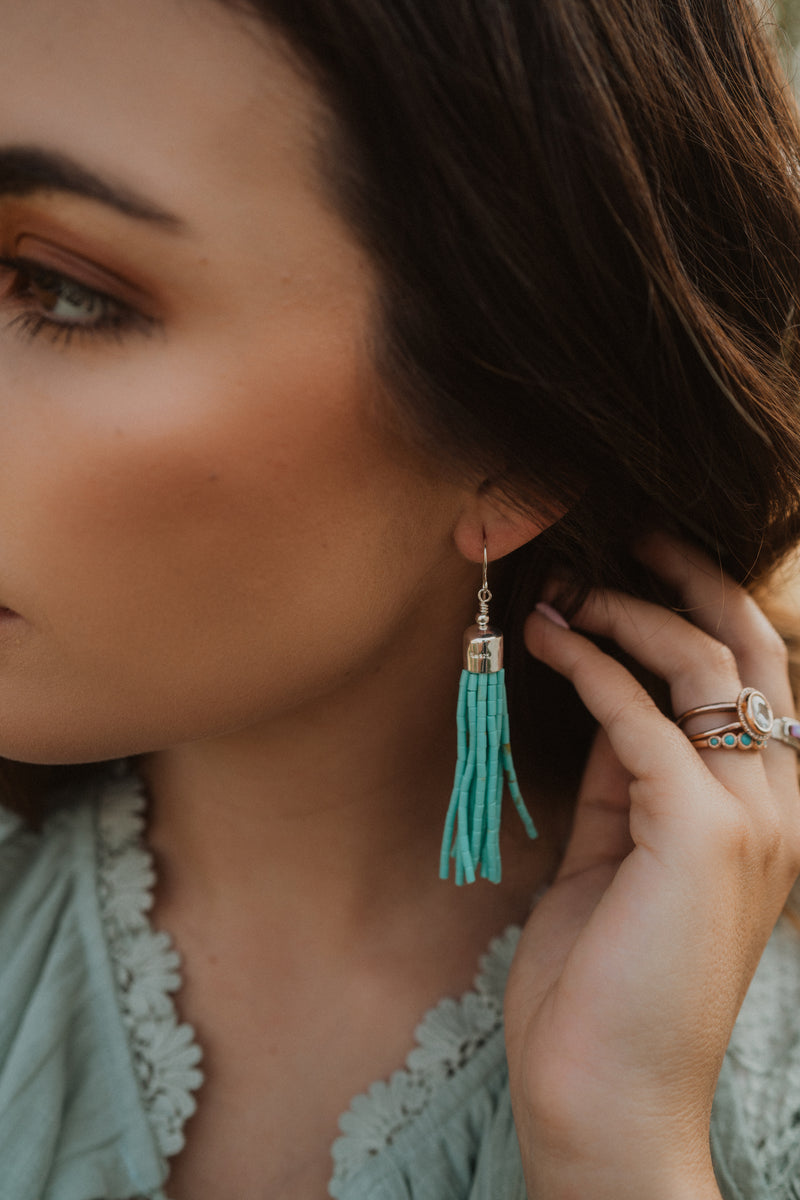 The Reed | Turquoise Strand Earring