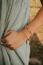 Heavy Curbed Gold Bracelet