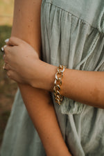 Industrial Gold Bracelet