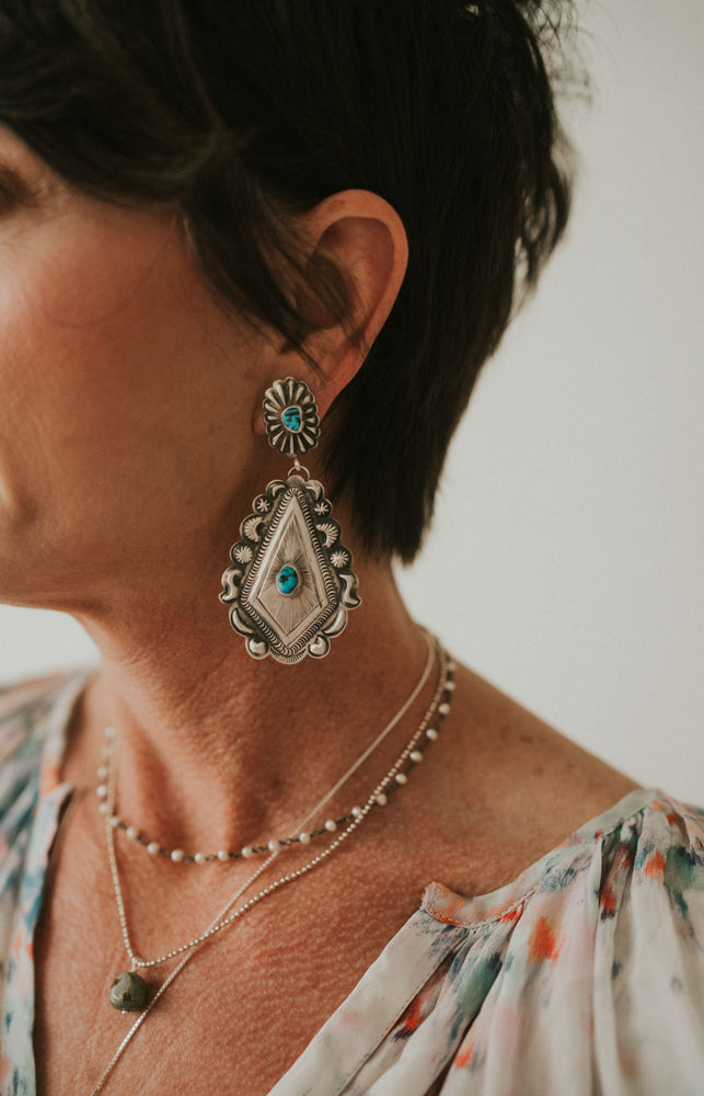 Concho Turquoise Earring