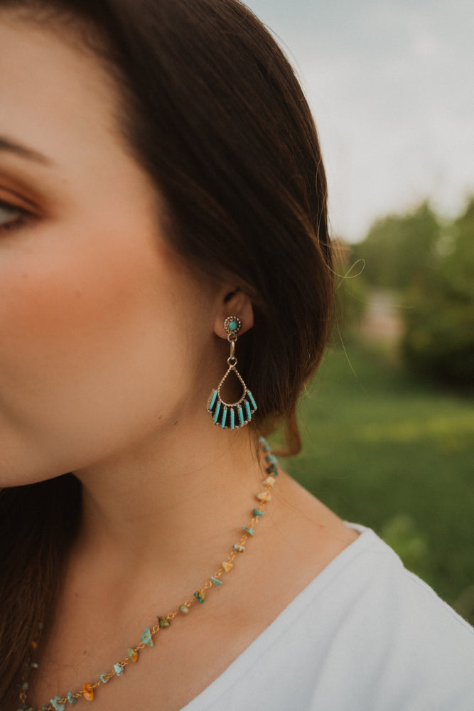 Zuni Chandelier Earring | 7 Bar Turquoise