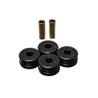 Front Tension Compression Strut Rod Bushings Poly Black