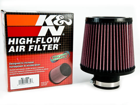 "K&N Air Filter 2.5"" Inlet NEW"