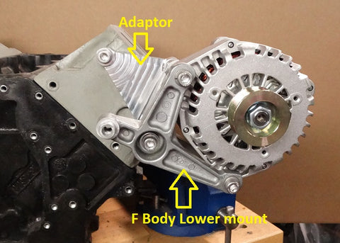 High Mount Alternator Bracket LS LS1 V8