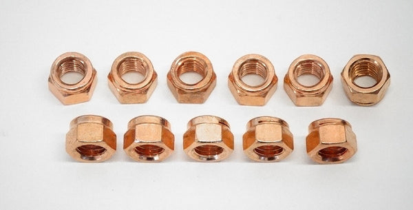 Copper Exhaust Manifold Nut Set 240Z 260Z 280Z