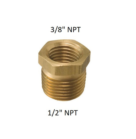 "NPT adaptor 12/"" to 3/8"" Pipe Thread Fuel rail"