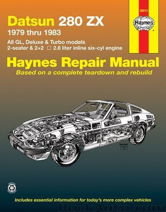Haynes Repair Manual 280ZX 79-83