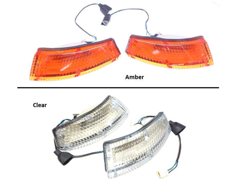 Front Turn Signal Light Lens Set Amber or Clear 240Z 260Z