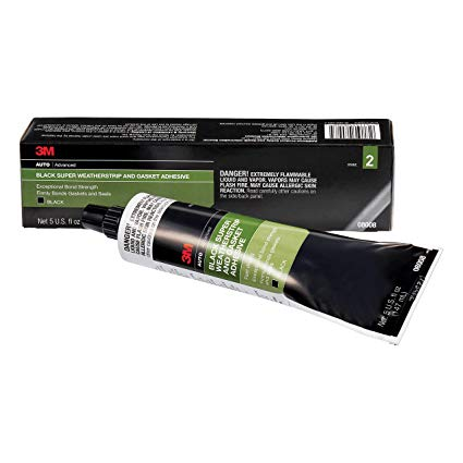 3M Super Weatherstrip Adhesive Trim Glue Black