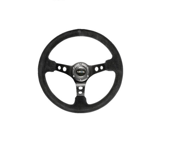 Sport Steering Wheel 350mm Leather or Suede Black NRG