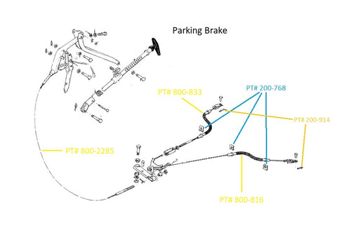 800 951 510 parking brake cable large