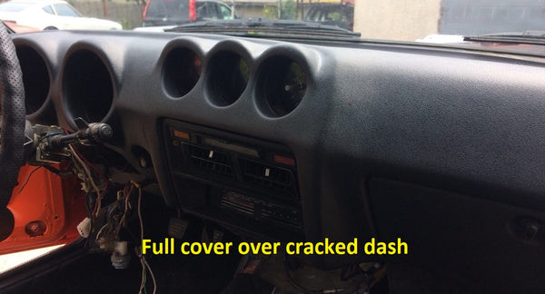 Dash Cover Cap Full Black 260Z 280Z