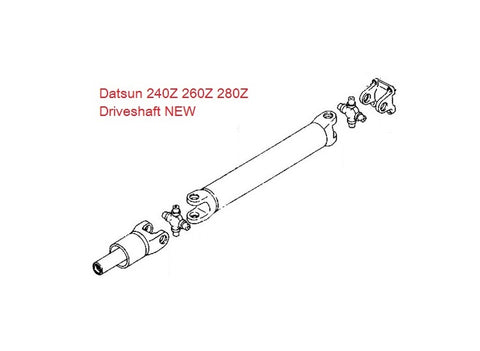 Driveshaft Propeller Shaft 240Z 260Z 280Z
