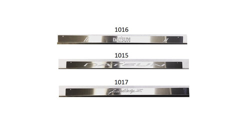 Door Sill Threshold Plate Custom Stainless Pair 240Z 260Z 280Z