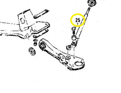 Tension Compression Radius Rod Bolt Front Control Arm 240Z