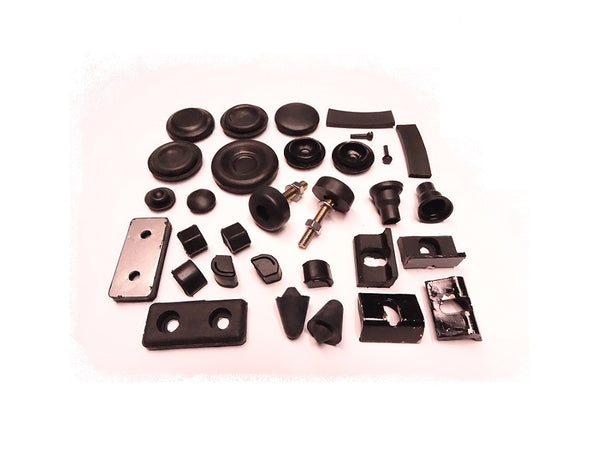 Rubber Bumper Body Grommet and Hole Plug Kit